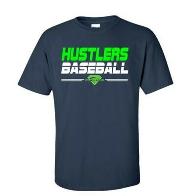Navy Hustlers Baseball Cotton Tee