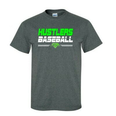 Grey Hustlers Baseball Cotton Tee