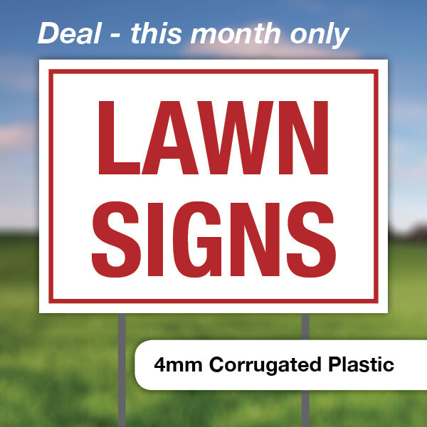 $225 || 100 Lawn Signs... 8 x 12 - Double Sided