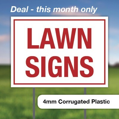 $321 || 50 Lawn Signs   ....16 x 24 - Double Sided