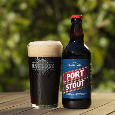 12 Bottles Of Port Stout By Hanlons