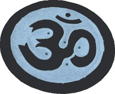 Porta Incenso Stick e Coni Simbolo Om in Pietra