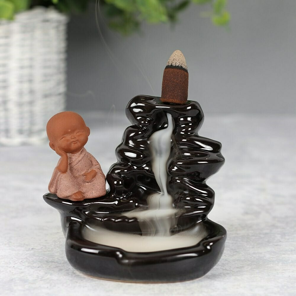 Back flow Incense Holder For Cones the Little Buddha Waterfall