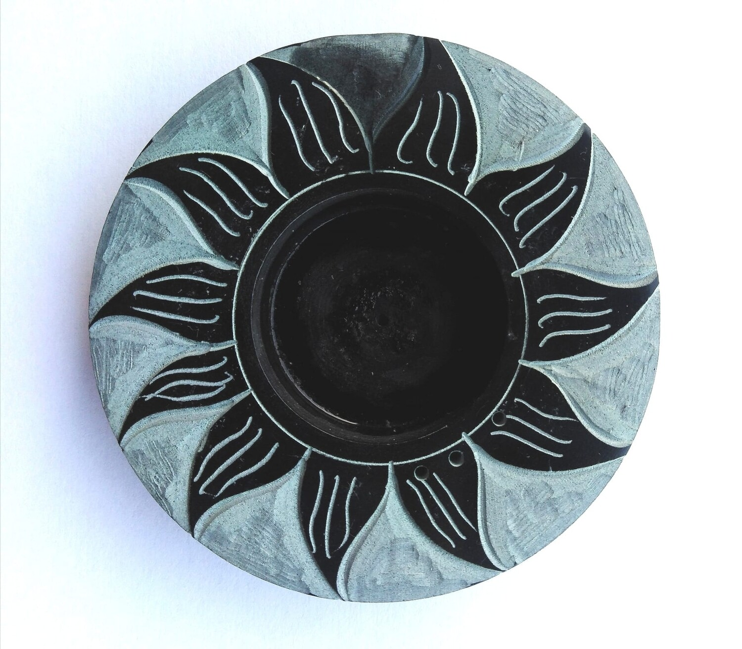 Incense Holder for Cones and Sticks and Tealights Sun