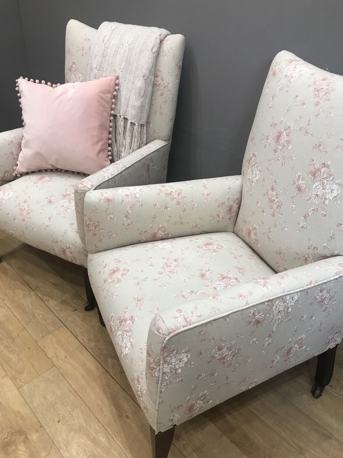 Re-upholstered Edwardian Armchair