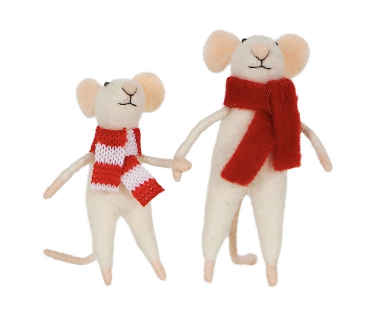 Family Mice Felt Standing Decoration