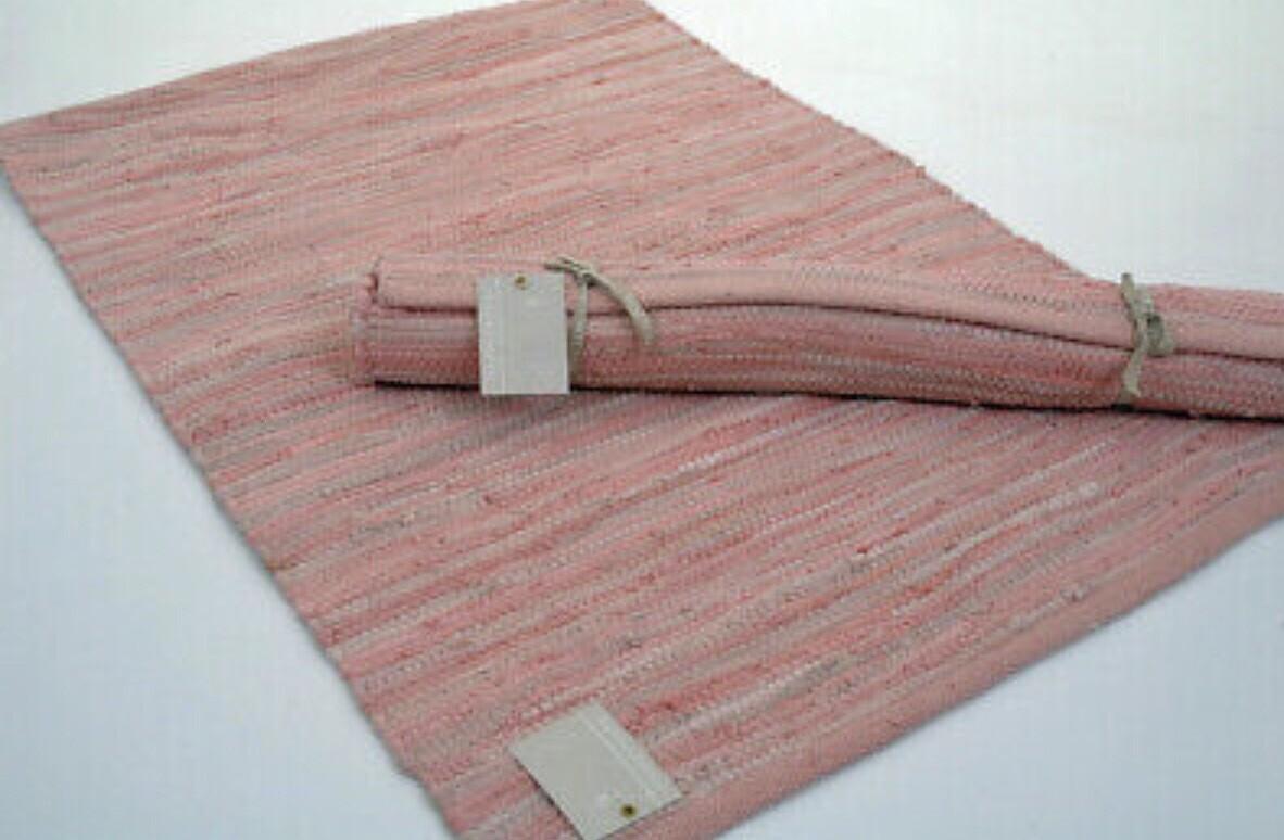 Pink Cotton Chindi Rug