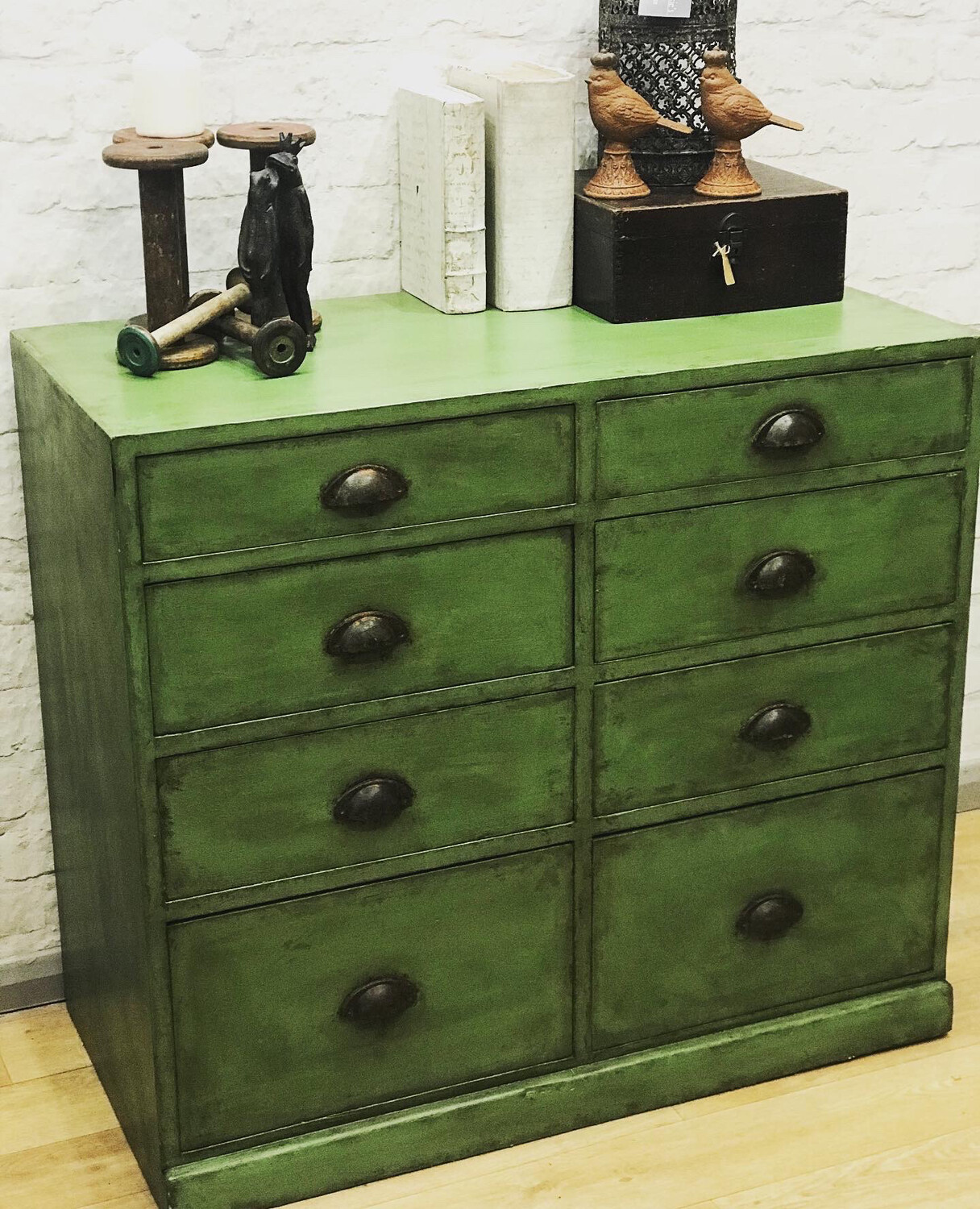 Vintage Industrial Style Drawers - Hand Painted
