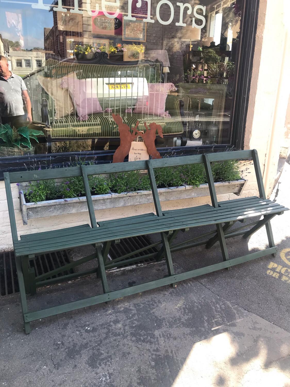 Vintage Folding Bandstand Seat / Garden Bench