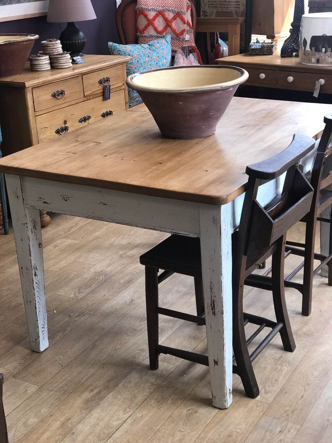 Victorian Pine Dining / Kitchen Table
