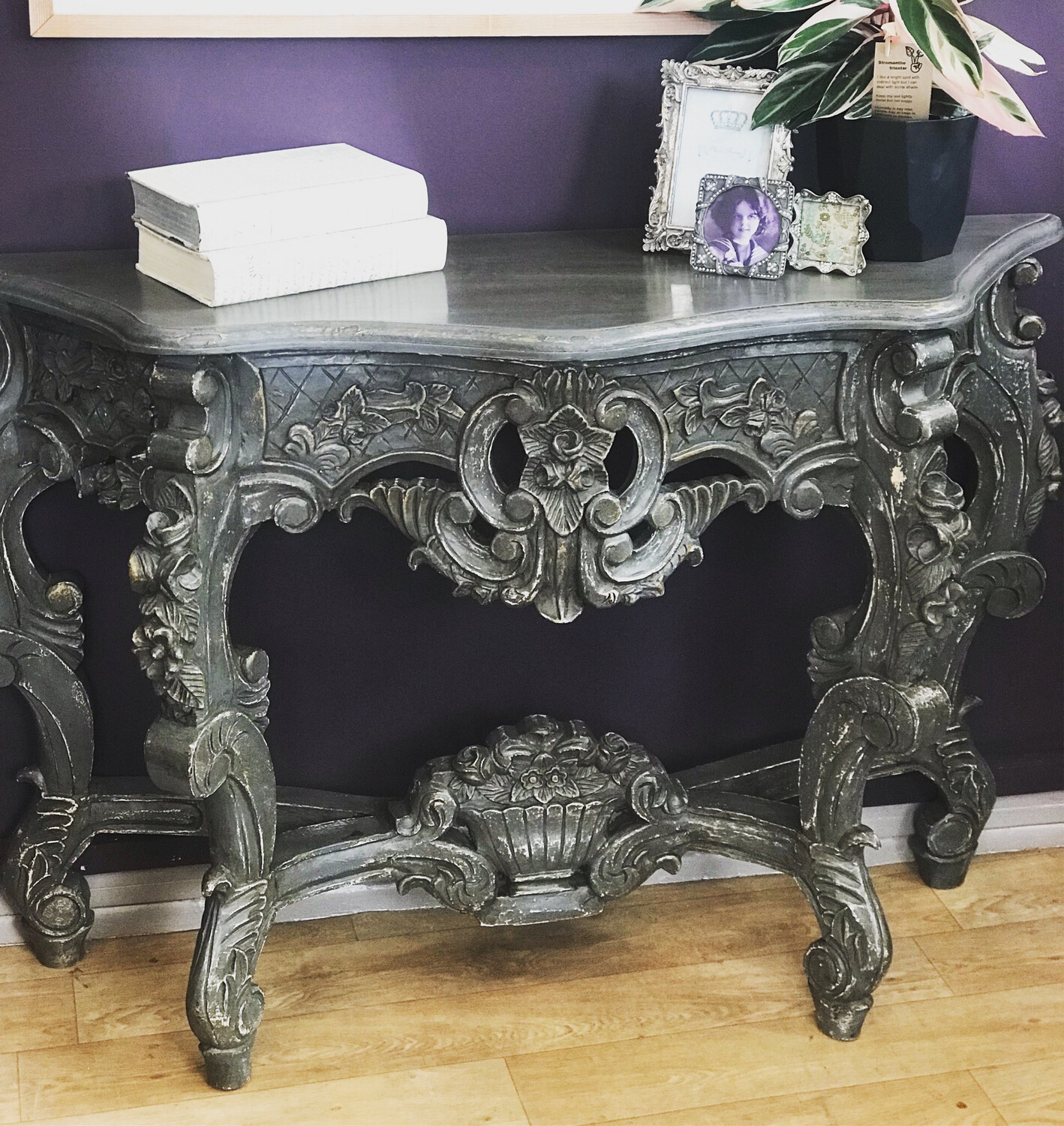 Vintage Painted Console Table
