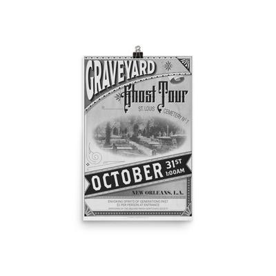 Graveyard Ghost Tour Print