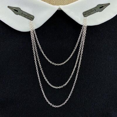 Triple Enamel Pin Chain