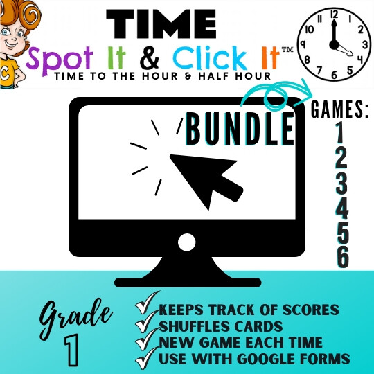 TIME BUNDLE of SIX GAMES (hour & half hour games) Spot It & Click It™