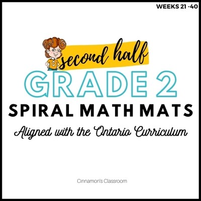 Grade 2 Spiral Math Mats | SECOND HALF (weeks 21-40)