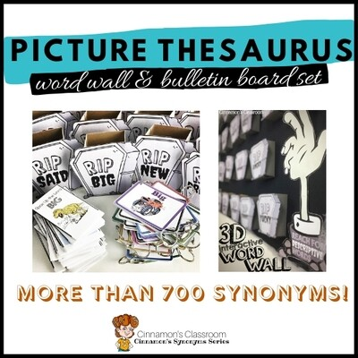 Picture Thesaurus for Boring Words | Synonyms | Word Wall & Bulletin Board Set