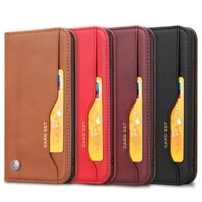 【 iPhone 8Plus / 7Plus / 6sPlus / 6Plus 】PUレザー自動吸収財布スタンドケース