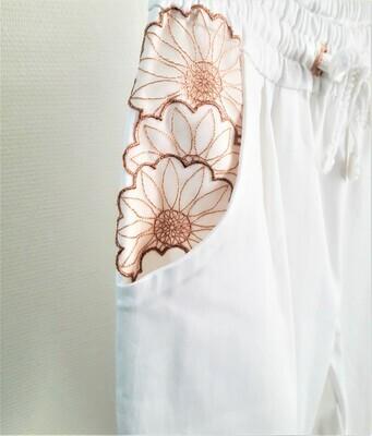 WHITE BLOSSOM - Pantalon