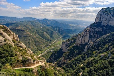 View from Montserrat Spain