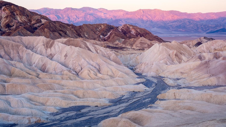 Sunrise over Zabriskie Point Death Valley California, USA