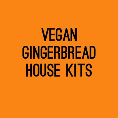 Vegan ginger bread house kits