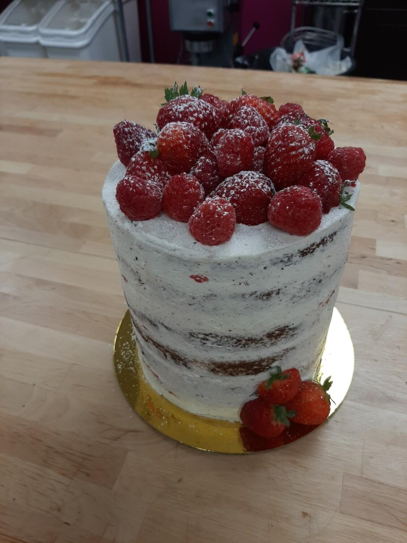 """Vegan 6"""" Very Berry Vanilla Cake"""