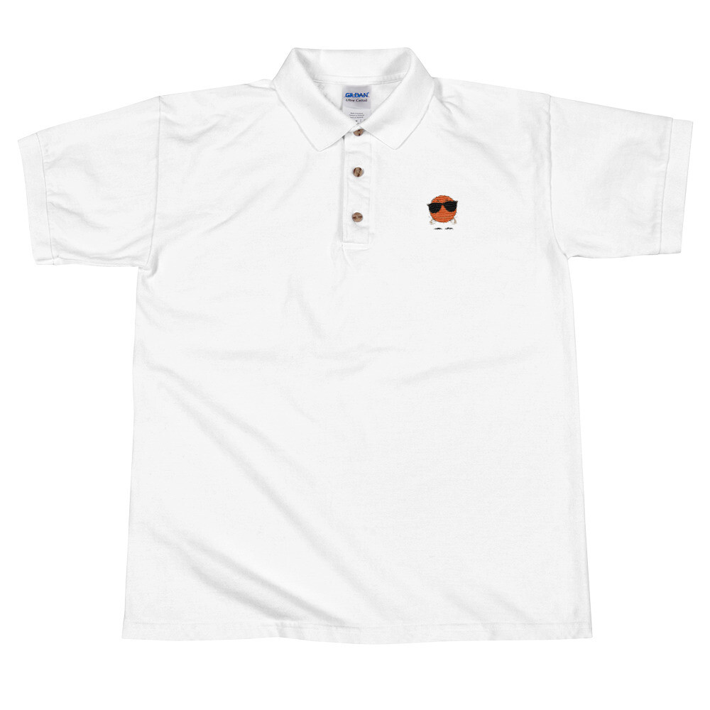 SnG Orange Embroidered Polo Shirt