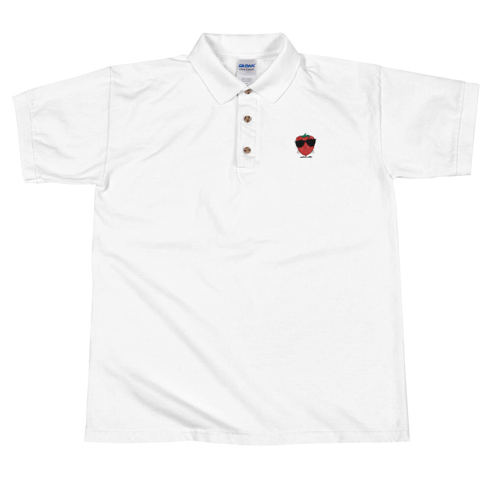 SnG Strawberry Embroidered Polo Shirt