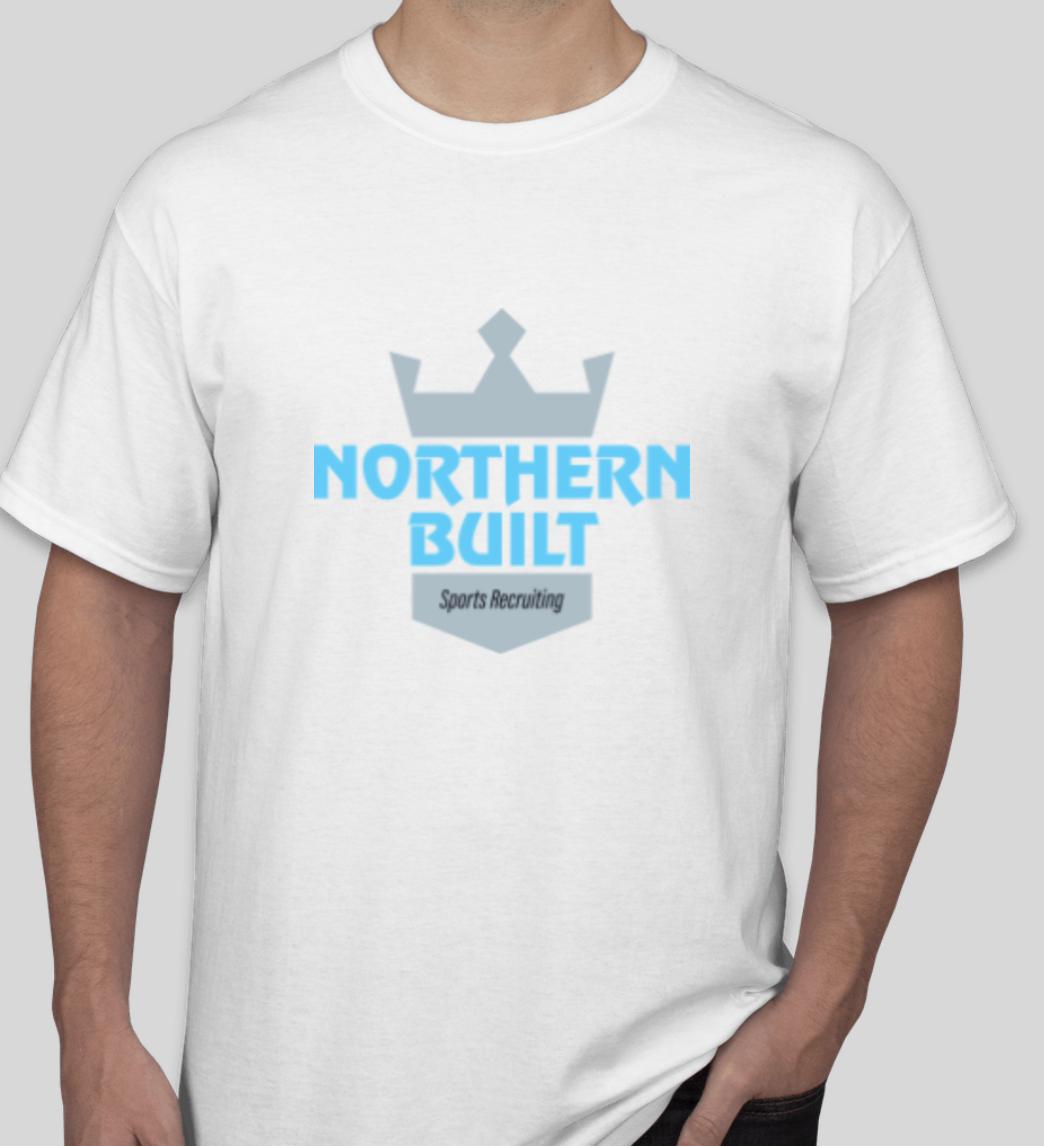 Northern Built Logo T - White