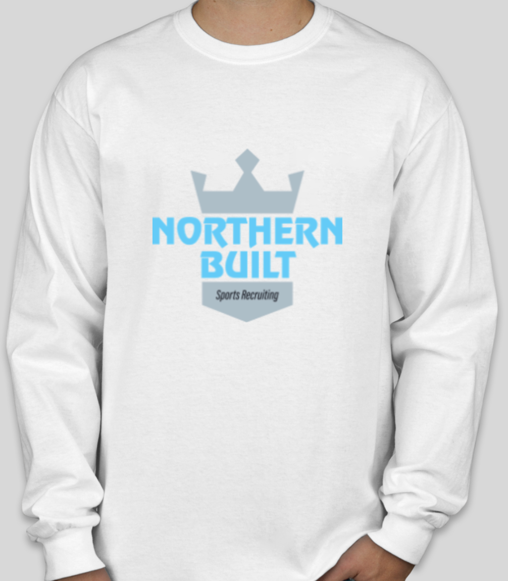 Northern Built Logo Long Sleeve - White