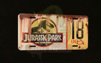 Jurassic License Plate