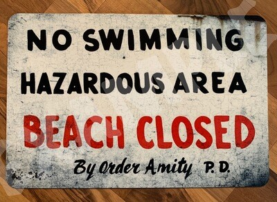 Jaws Amity Sign