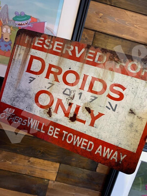 Droid Parking Replica signs (Limited time sale)