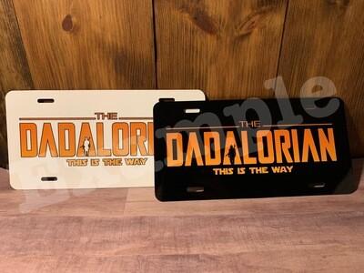 """Dadalorian """"Mandalorian"""" Licenses plate"""