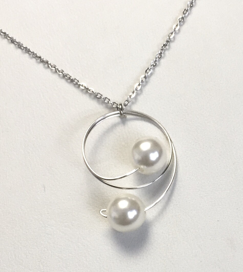 COLLIER DUO DE PERLES