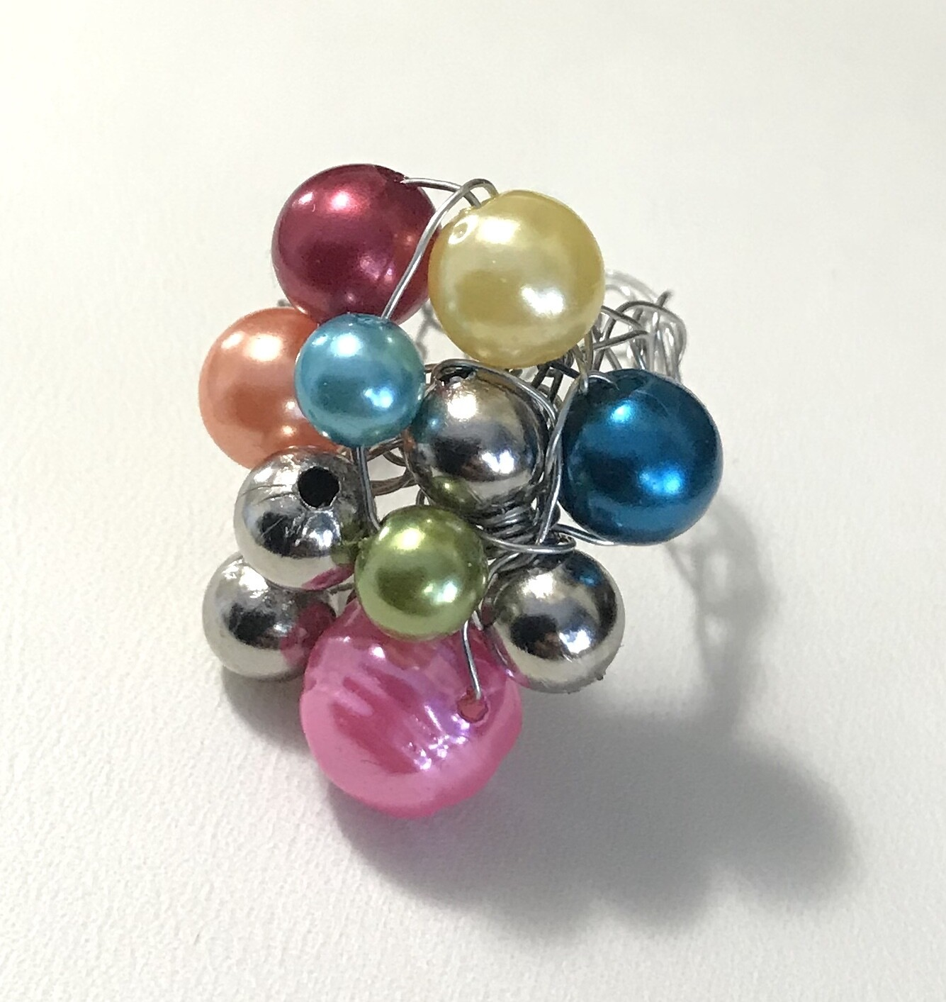 BAGUE GRAPPE MULTICOLORE