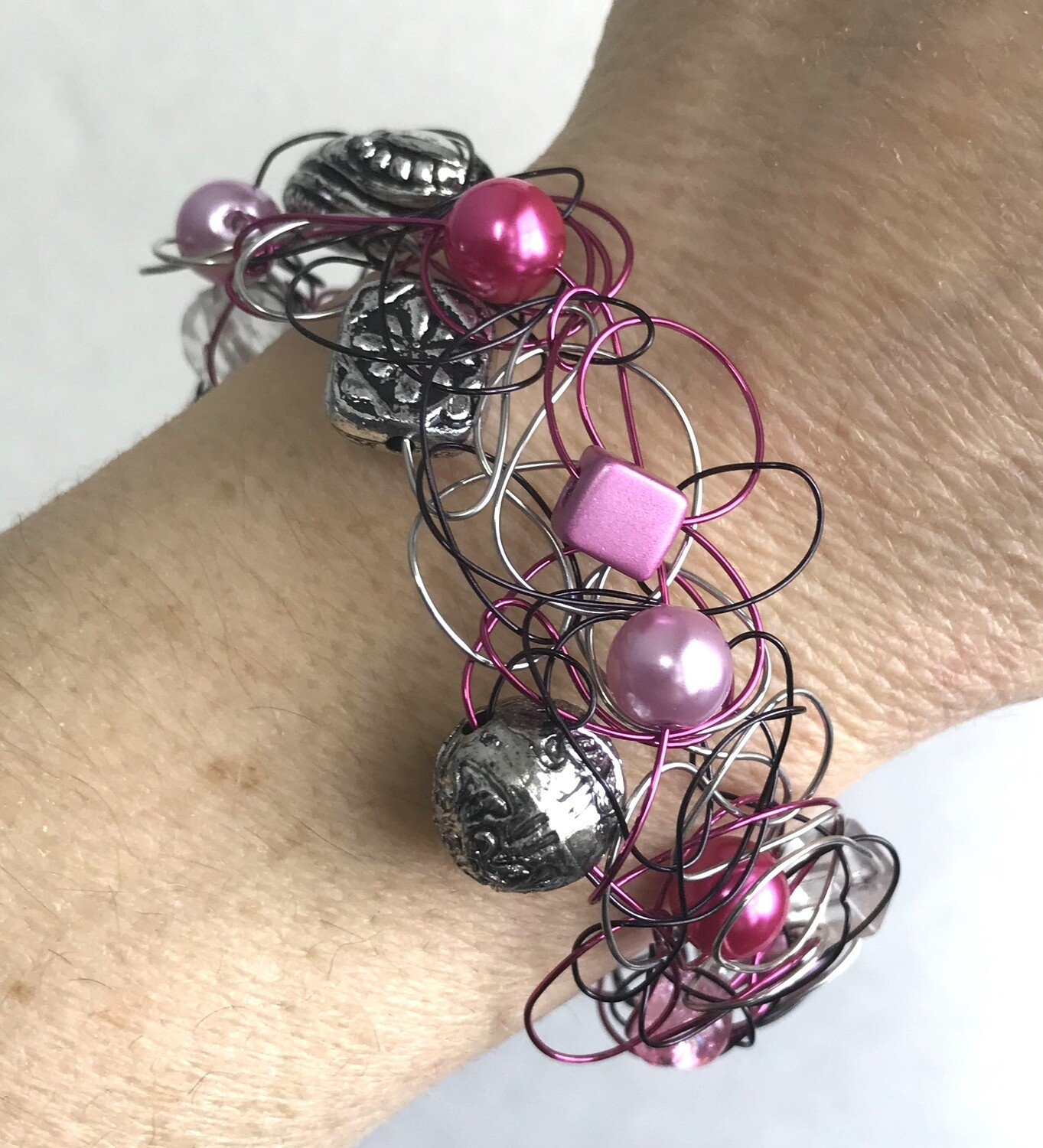 BRACELET FOUFOU MIX ROSE