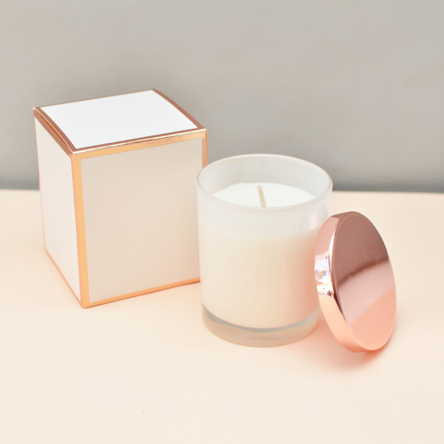 Candle with Rose Gold Lid