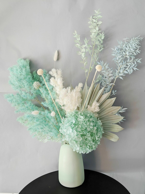 Fresh Mint Preserved Vase Arrangement
