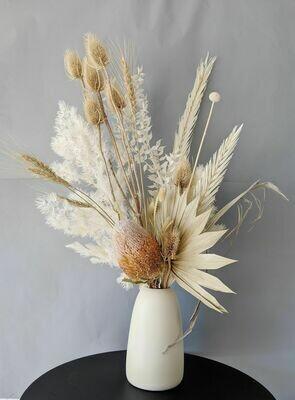 Latte Preserved Vase Arrangement