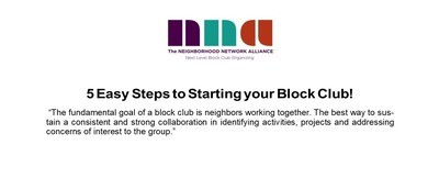 5 Steps to Starting a Block Club