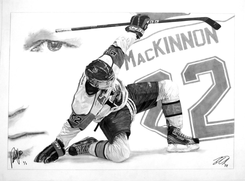 "Nathan MacKinnon Signed | 20"" x 29"" ORIGINAL ART"