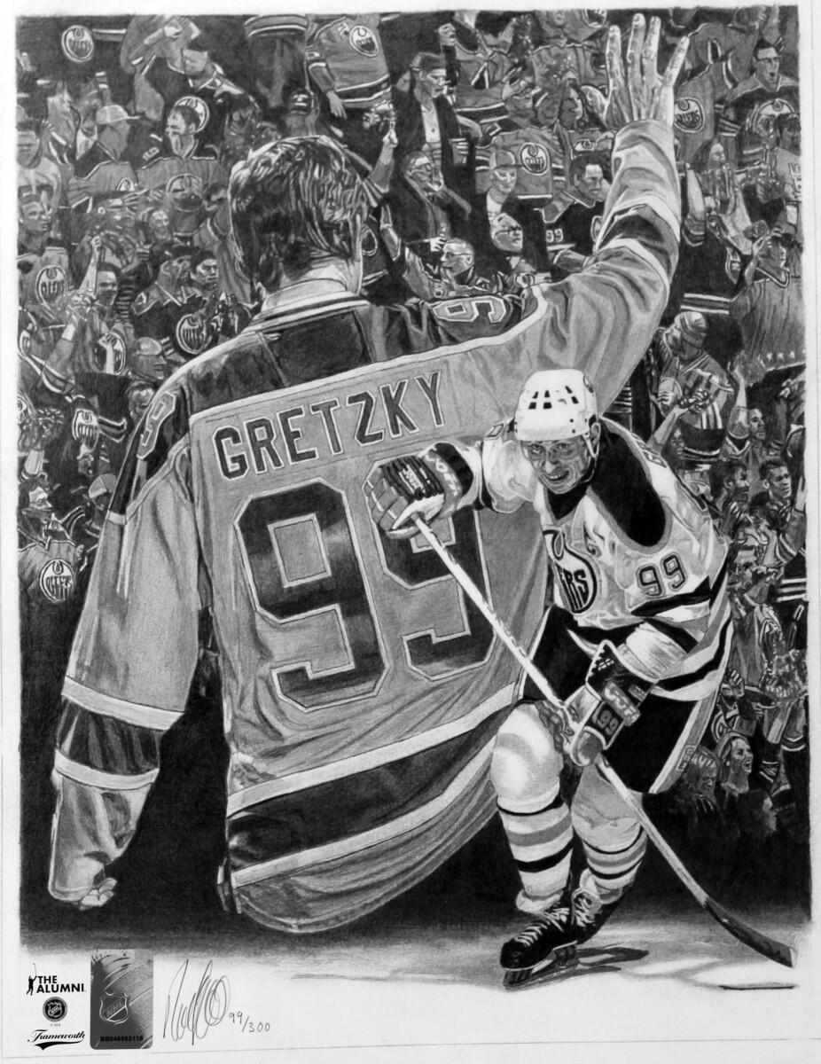 "Wayne Gretzky   10.75"" x 14"" ART PRINT"