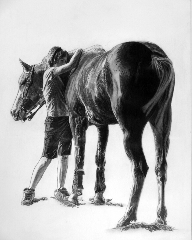"Girl and her gal | 11.5"" x 14.5"" | ART PRINT"