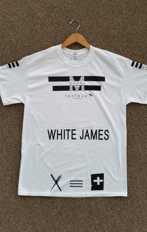 Money Tantrum White James t-shirt