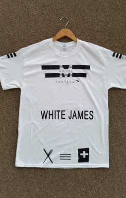Money Tantrum White James t-shirt