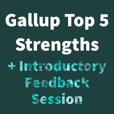 Gallup CliftonStrengths Top 5 Assessment + 1 Hour Introductory Feedback Coaching Call