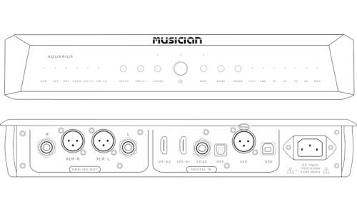 Musician Aquarius R2R Digital Audio Converter