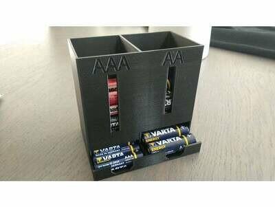 AA & AAA battery dispenser