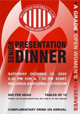 2020 Senior Presentation Dinner Ticket(s)